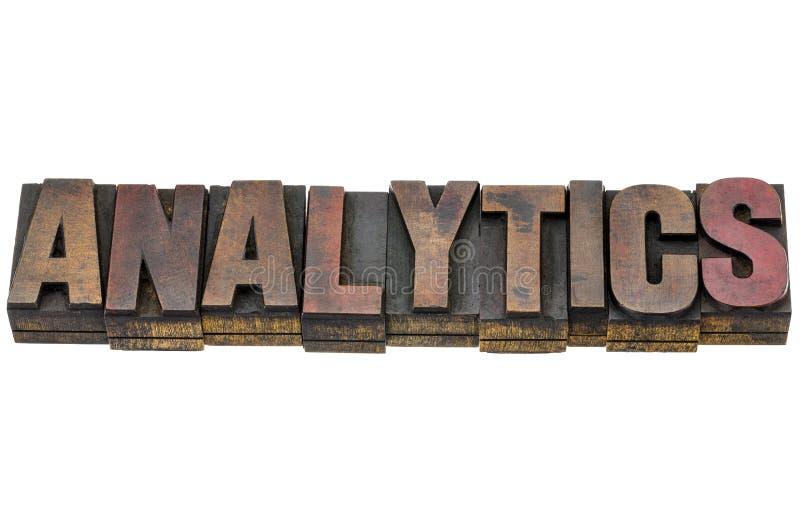 逻辑分析方法在木类型措辞 免版税图库摄影
