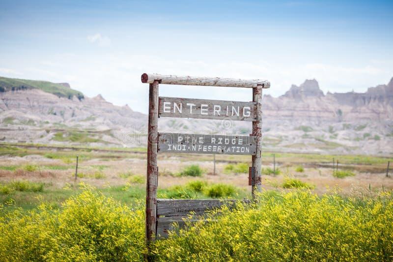 输入的杉木里奇印第安保护区,南达科他,美国 库存图片