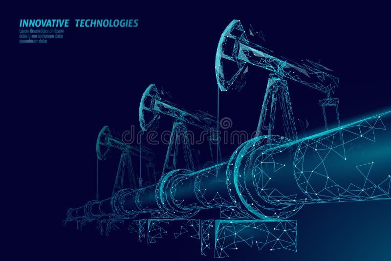 输油管低多企业概念 财务经济多角形汽油生产 石油燃料产业 皇族释放例证