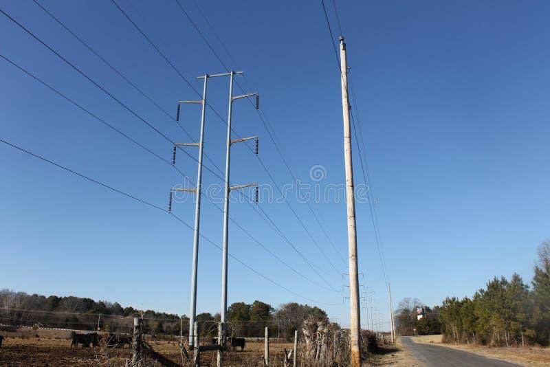 输电线和导线电 库存图片