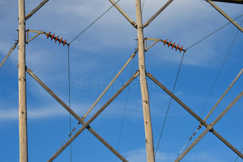 输电线样式 免版税库存图片