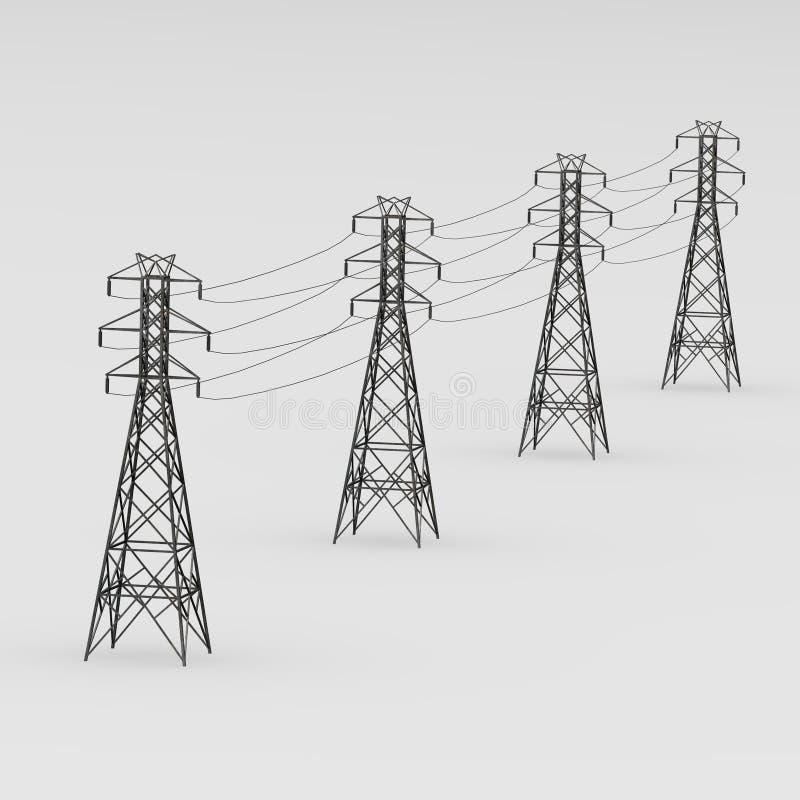 输电线 向量例证