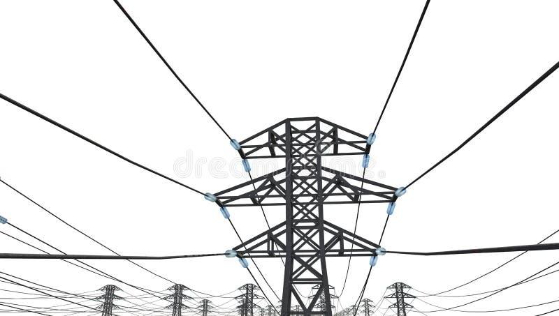输电线 库存例证