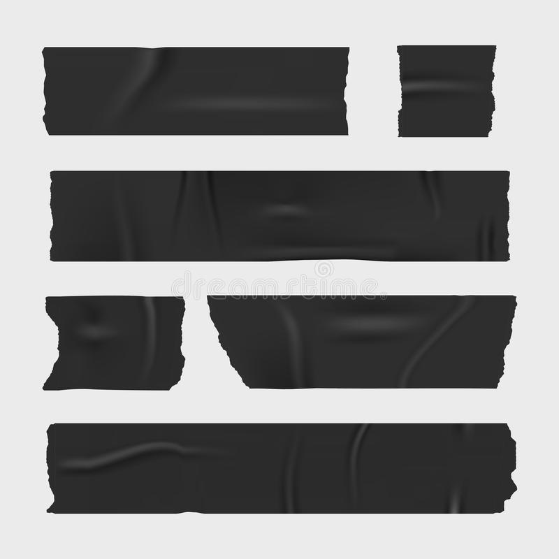 输送管橡皮膏 被设置的现实条纹 皇族释放例证