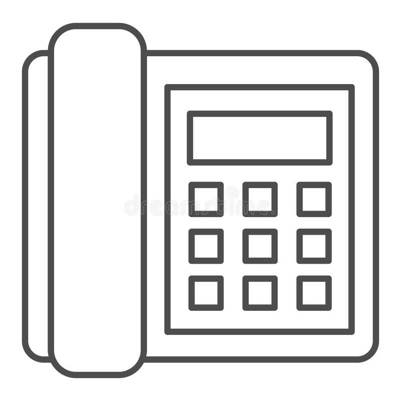 输送路线电话稀薄的线象 电话在白色隔绝的传染媒介例证 电话概述样式设计,设计为 皇族释放例证
