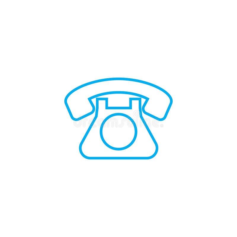 输送路线电话线性象概念 输送路线电话线传染媒介标志,标志,例证 向量例证