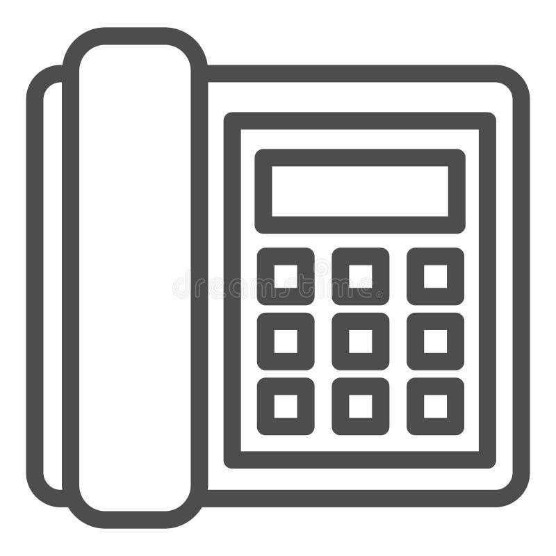 输送路线电话线象 电话在白色隔绝的传染媒介例证 电话概述样式设计,设计为网 向量例证