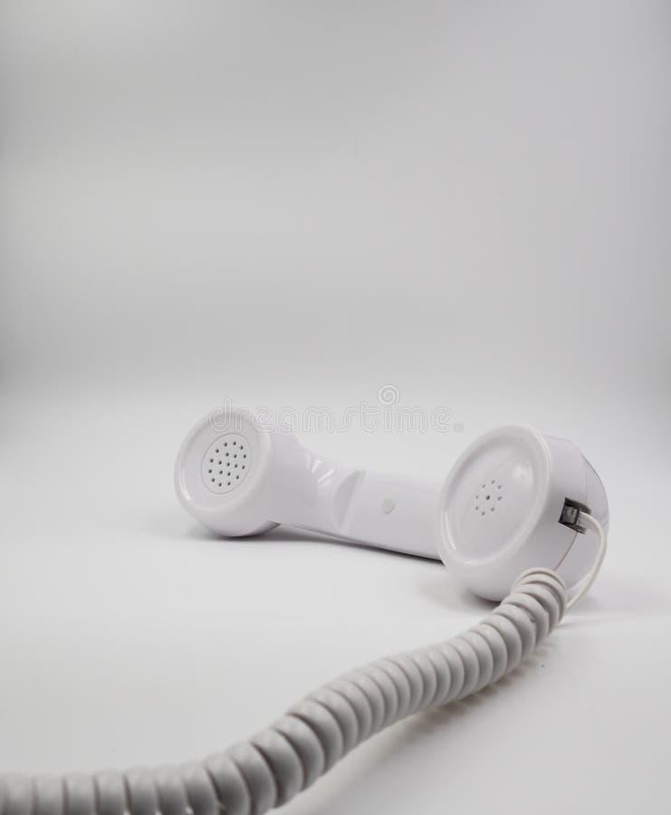 输送路线电话耳机,被隔绝 库存图片