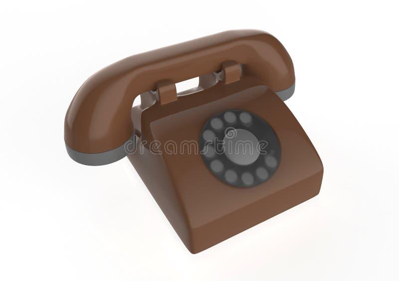 输送路线电话 向量例证