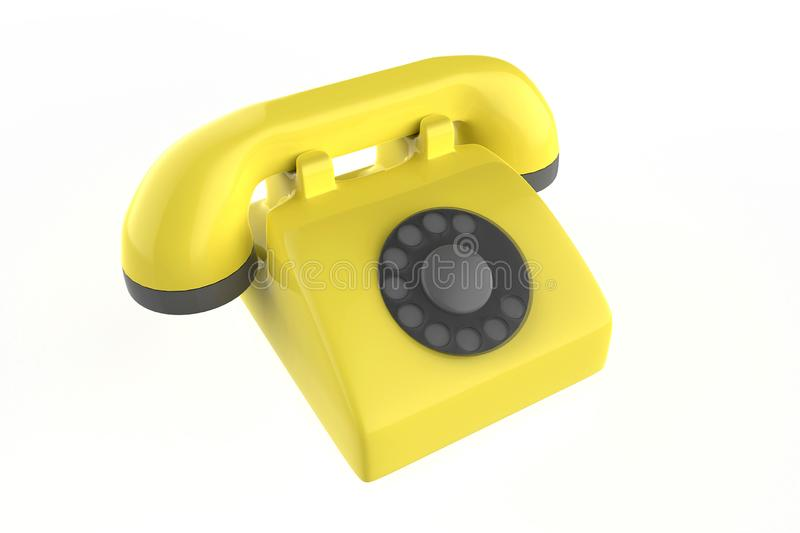 输送路线电话 皇族释放例证