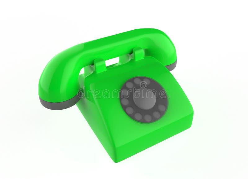 输送路线电话 库存例证