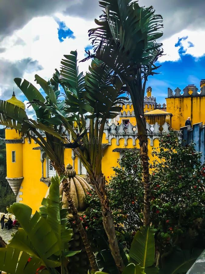 辛特拉城堡 免版税库存图片