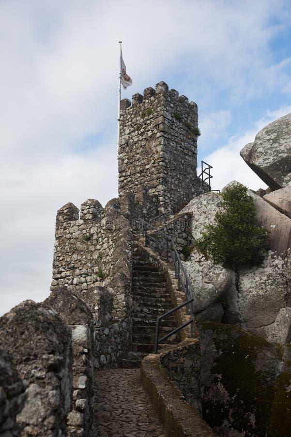 辛特拉 Castelo dos Mouros 图库摄影