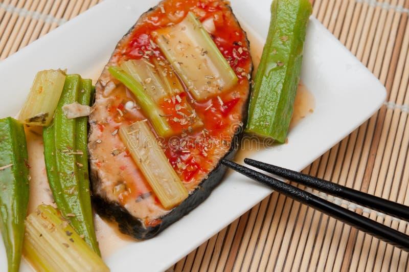 辣可口的鱼 免版税图库摄影