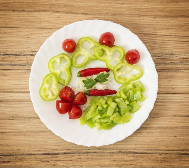 辣椒、西红柿、辣椒粉、葱和芹菜离开 库存照片