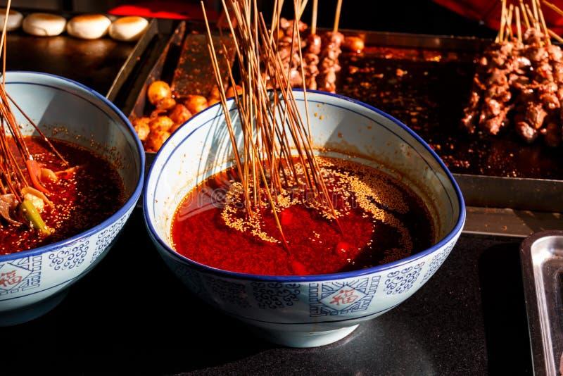 辣椒油在成都,四川 库存照片