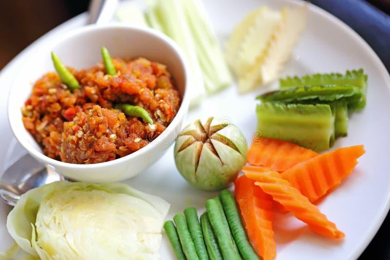 辣椒由泰国的新鲜的虾做了†‹â€ ‹ 免版税库存照片