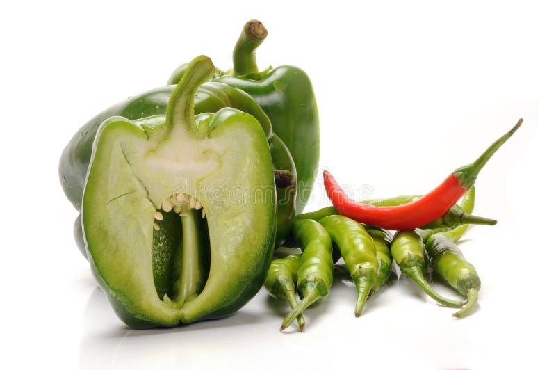 辣椒的果实和辣椒 免版税库存图片