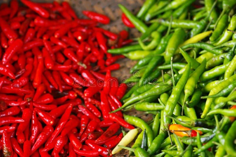 辣椒绿色红色 库存照片
