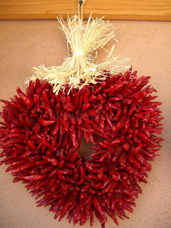 辣椒被塑造的重点ristra 图库摄影