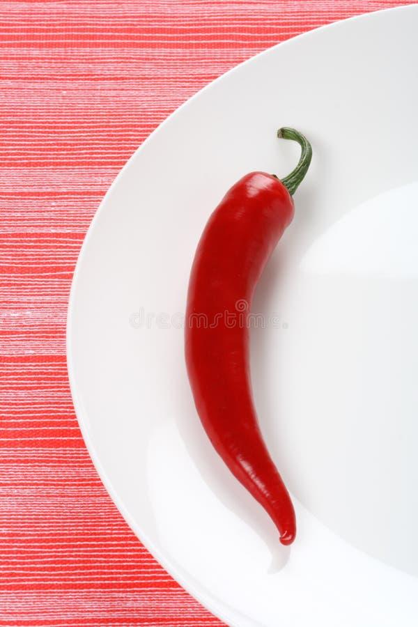 辣椒辣椒牌照红色白色 免版税库存图片