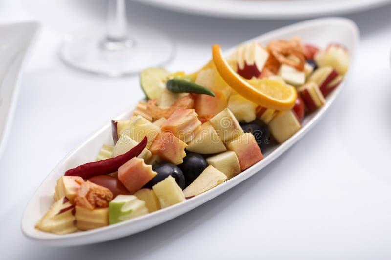 辣水果沙拉泰国样式 库存照片