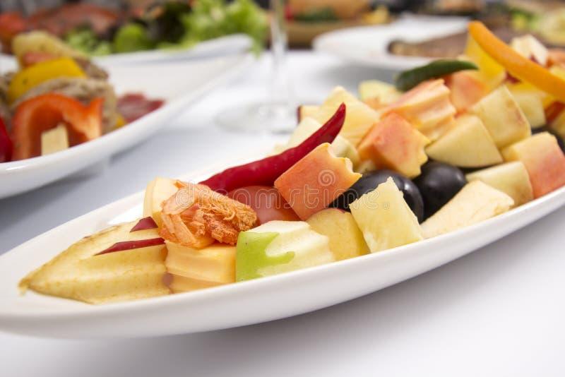 辣水果沙拉泰国样式 免版税库存照片