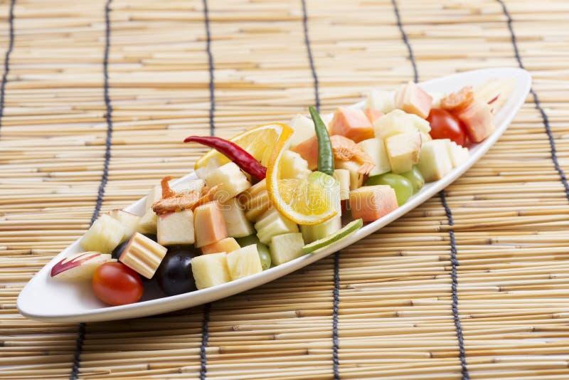 辣水果沙拉泰国样式 图库摄影