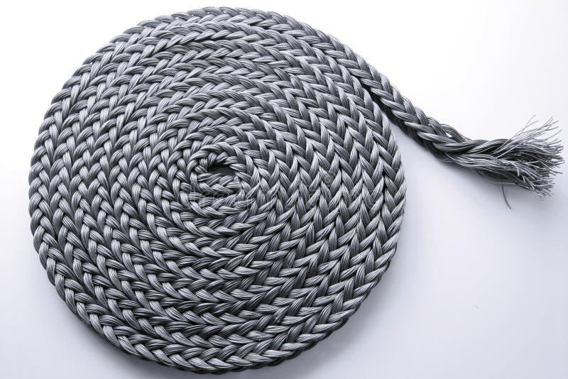 结辨的绳索卷 图库摄影