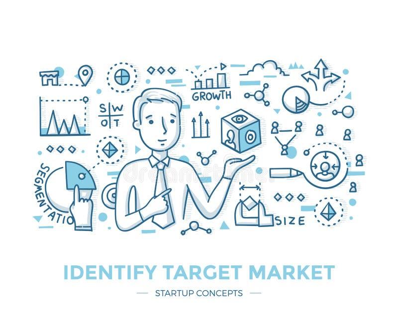 辨认起始的目标市场 库存例证