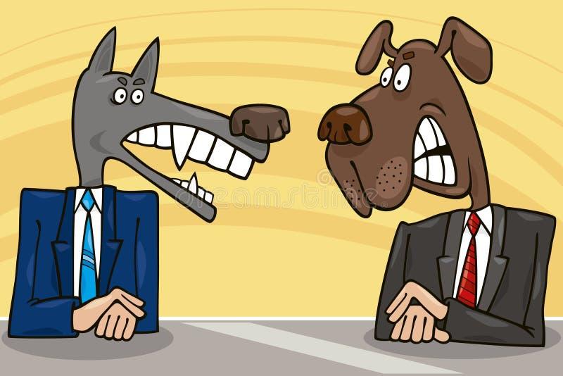 辩论政客 向量例证