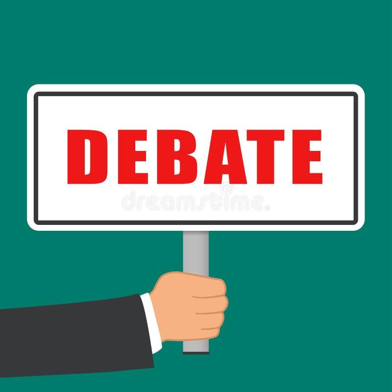 辩论词标志平的概念 向量例证