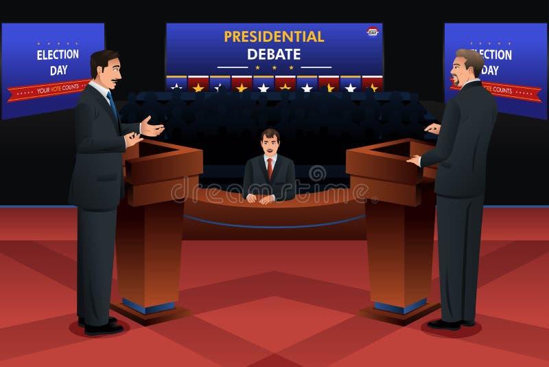 总统辩论 库存例证
