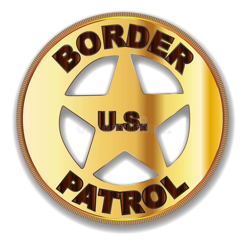 边境巡逻徽章 向量例证