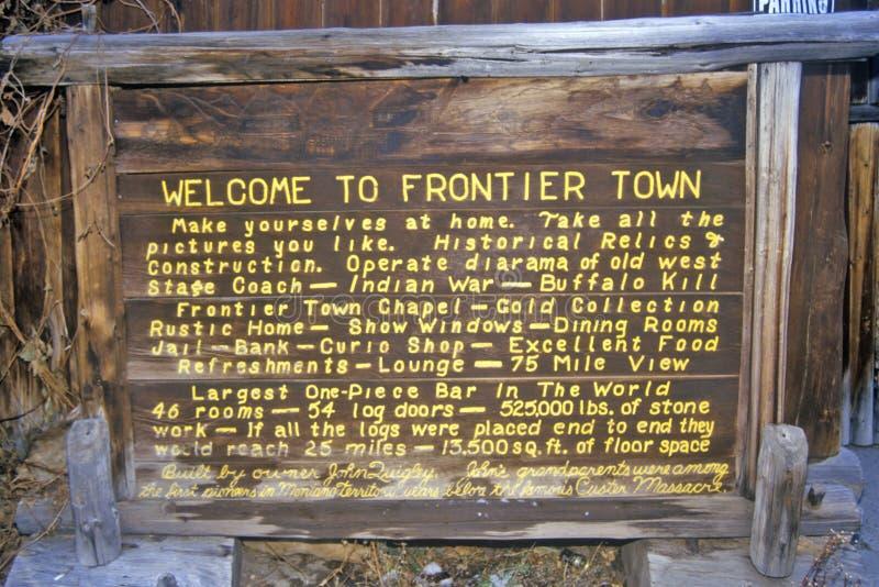 边境镇在海伦娜, MT 免版税库存照片