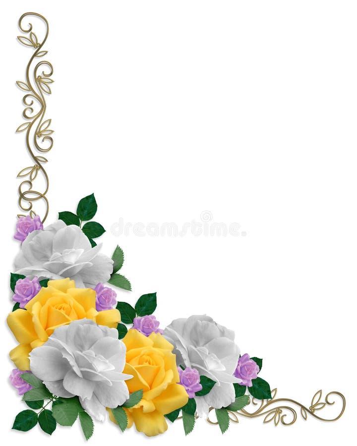 边界上色复活节玫瑰 库存例证