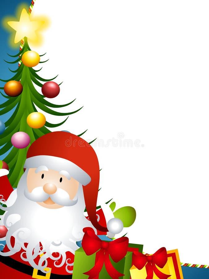 边界克劳斯・圣诞老人结构树 向量例证