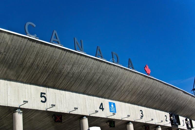 边界加拿大 库存图片