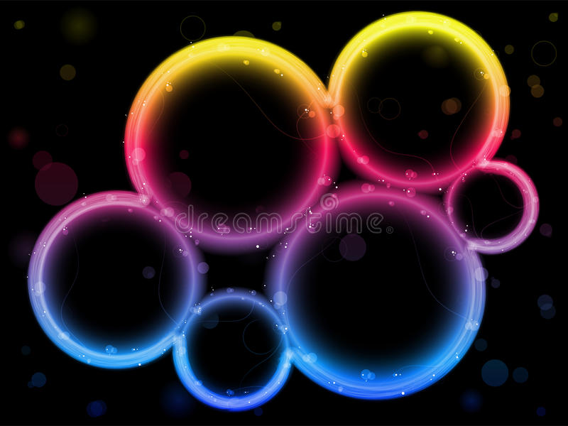 边界圈子彩虹闪闪发光 向量例证