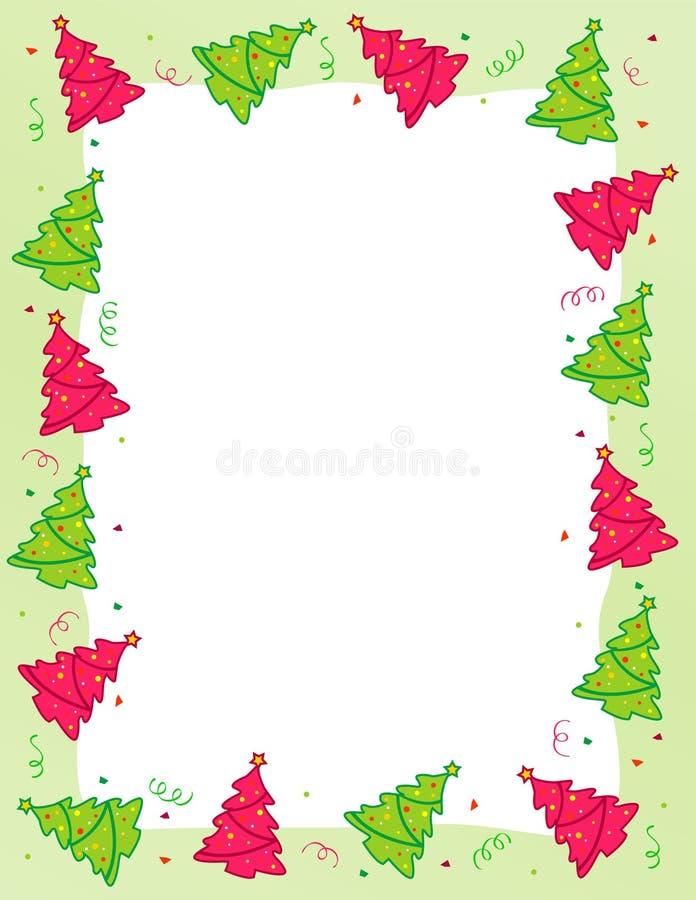 边界圣诞树 库存例证