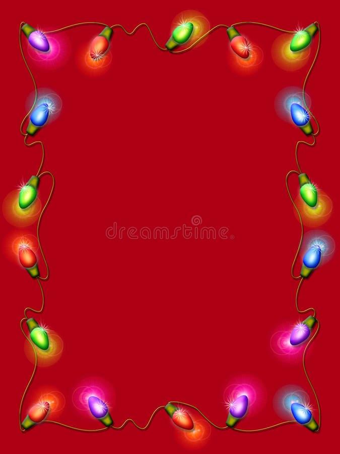 边界圣诞灯 向量例证