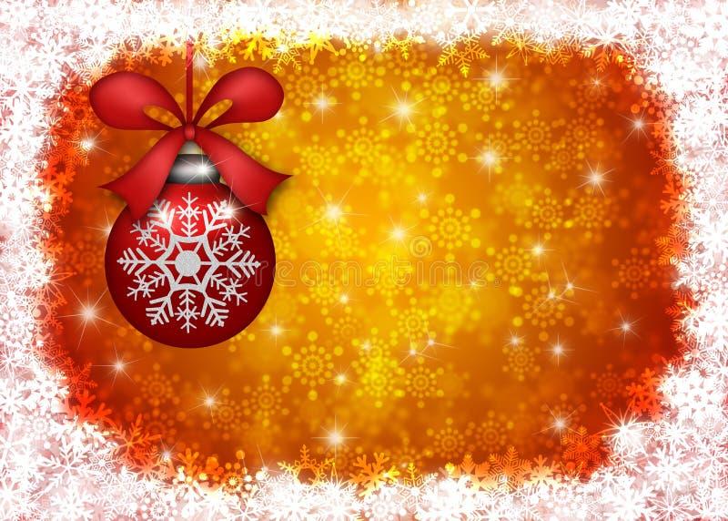 边界圣诞节停止的装饰品雪花 库存例证
