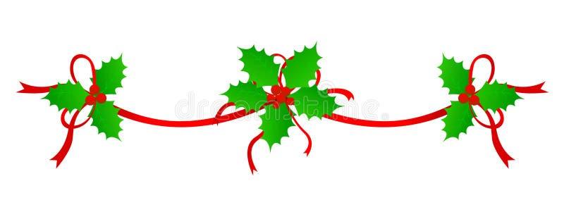 边界圣诞节分切器 向量例证