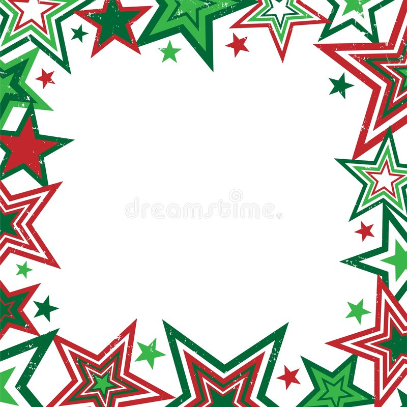 边界圣诞节星形 库存例证