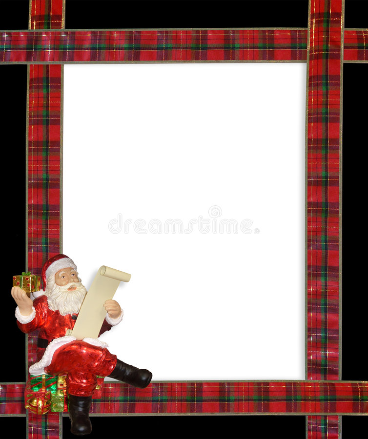 边界圣诞节框架丝带圣诞老人 向量例证