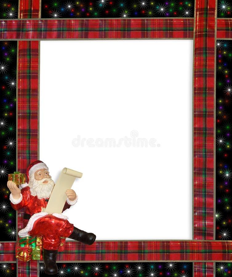 边界圣诞节框架丝带圣诞老人 皇族释放例证