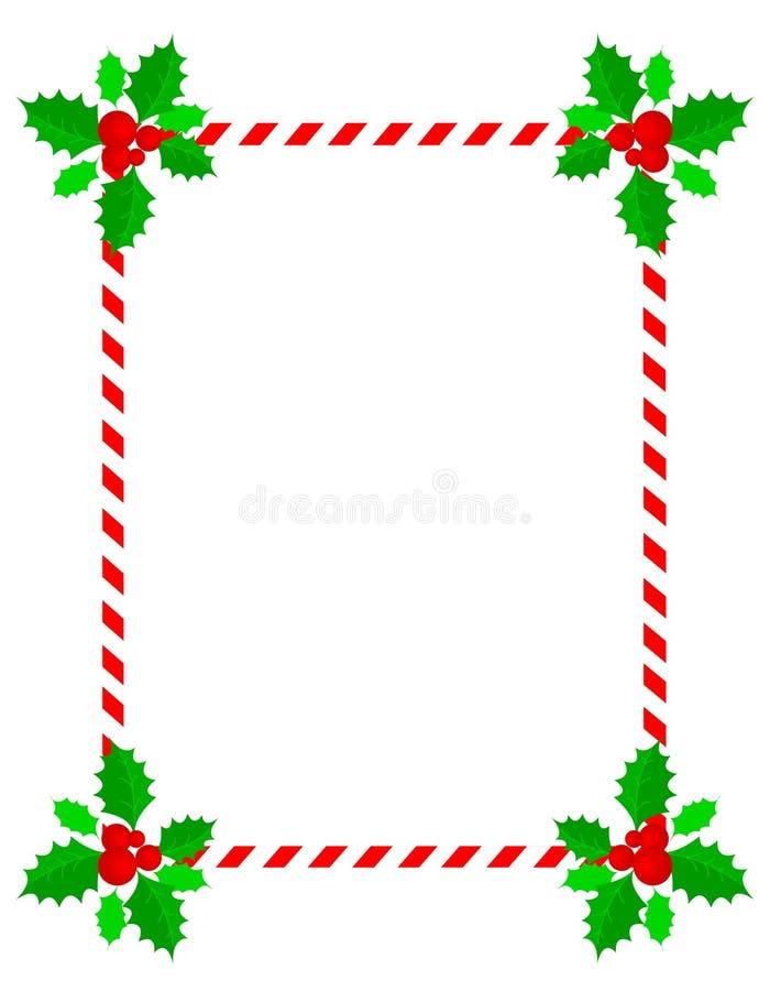 边界圣诞节框架 向量例证