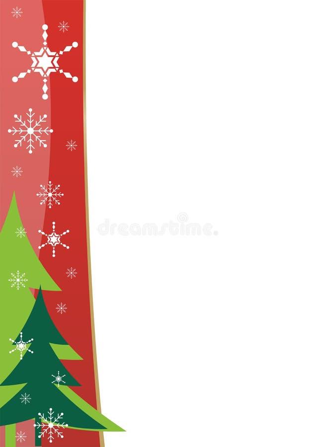 边界圣诞节模板 免版税库存图片