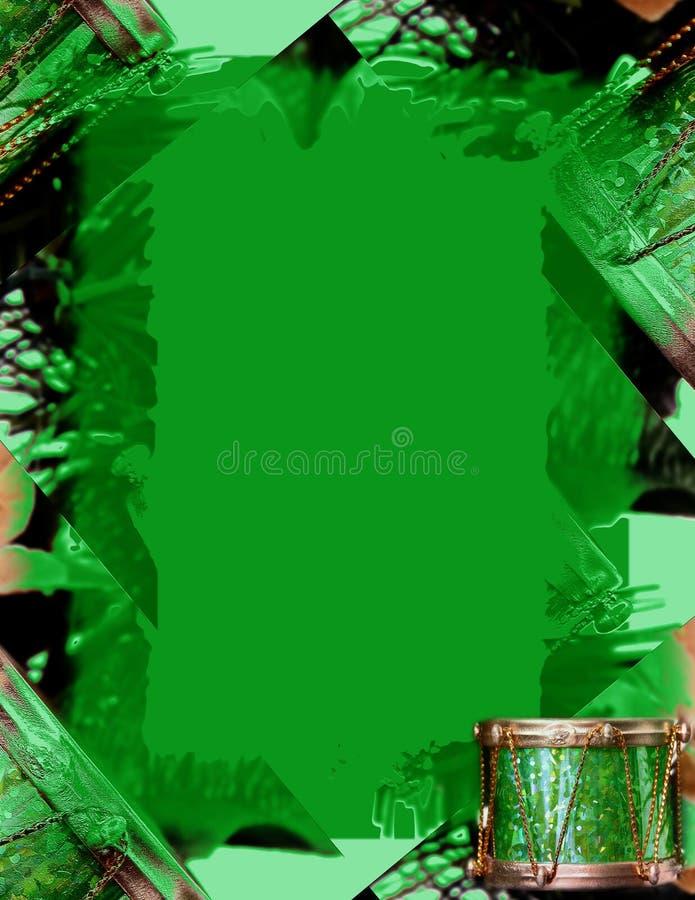 边界圣诞节绿色 库存例证