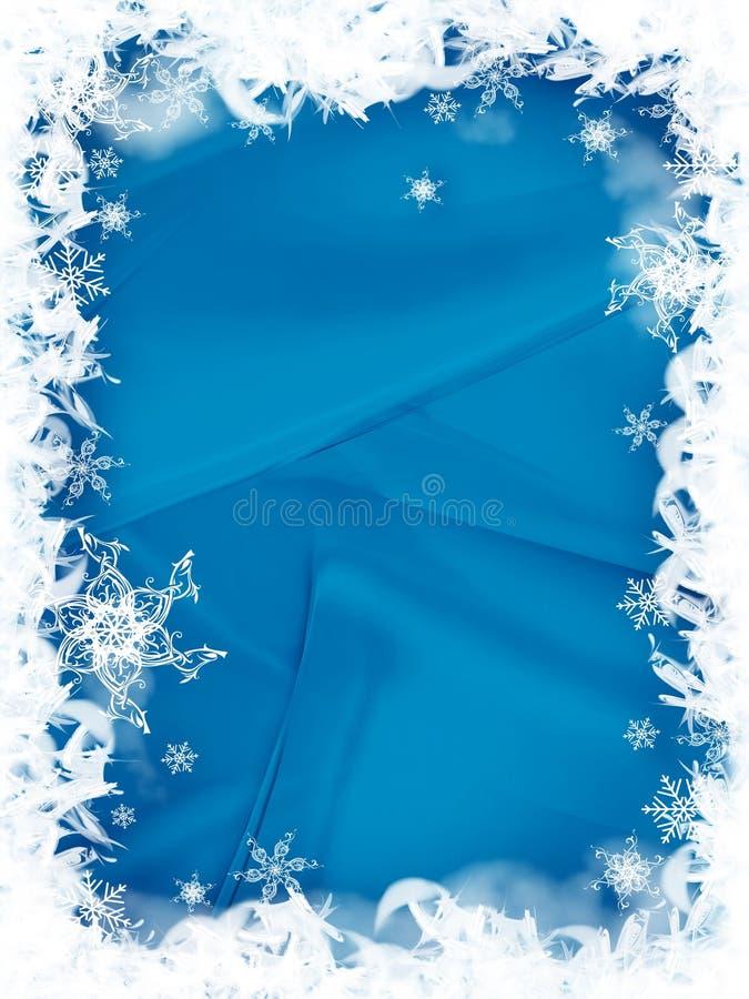 边界圣诞节雪花 库存例证